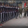 Knighted Penguin Inspects Norwegian Troops
