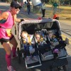 Mom Runs Half-Marathon While Pushing Her Triplets in a Stroller