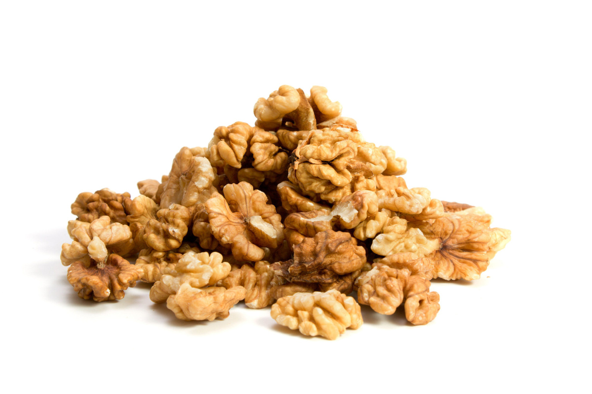 Stock Photo: a walnuts isolated on the white background. SHITERSTOCK image for Jennifer Bain.